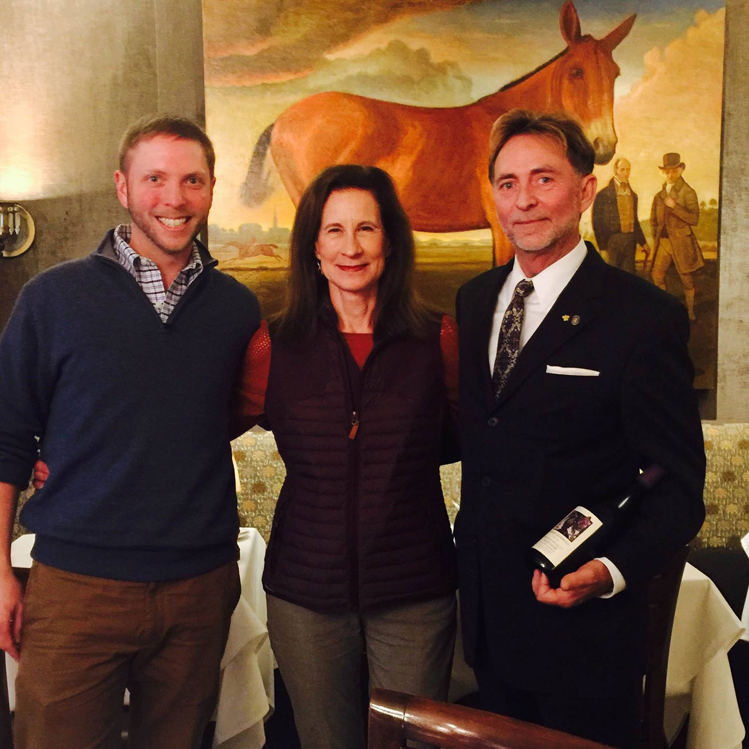 With Sommelier Dennis Perry (r) and his assistant mark Solomon