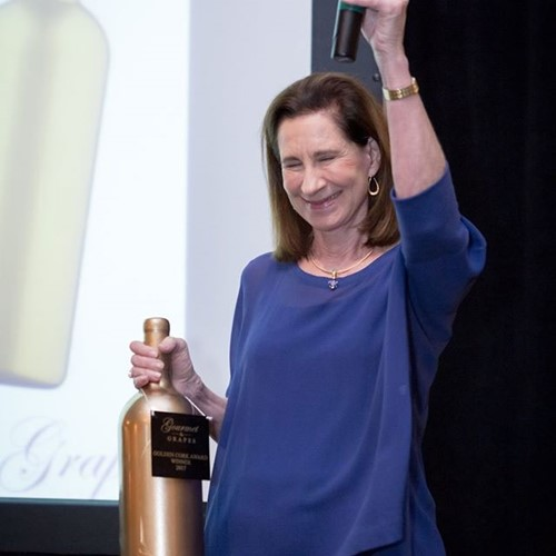 Receiving the Golden Cork award at the Gourmet & Grapes Gala at Kiawah Island Golf Resort in S.C.