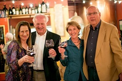 Merry and Ken with Kevin and Mary Grace Burke, who own River City Distribution in Kentucky, at a wine dinner at Bella Bacinos in La Grange, IL. April 7, 2015