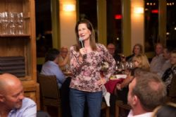 Speaking at the Pigs and Pinot Gala Dinner at Hotel Healdsburg, March 21, 2015 (Photo by Charlie Gesell)