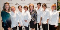 Merry with the all-star lineup of chefs at JBF's Women in Whites gala fund-raiser, Nov. 15, 2013