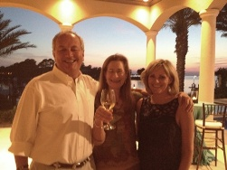 With Jim & Jennie Bagby at the home of Doreen & Jeff Eckmann to raise funds for 15 children's charities at the Destin Charity Wine Auction in Florida, April 2013