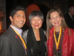Merry at her induction into the Vintners Hall of Fame, along with fellow inductee Cesar Chavez's grandson, Anthony, and state Assemblywoman Mariko Yamada, Feb. 18, 2013