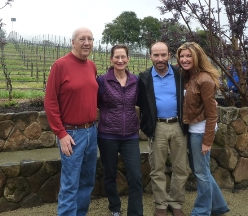 Ken and Merry visit with singer/musician Lee Greenwood and his wife, Kim, at the winery on March 30, 2012.
