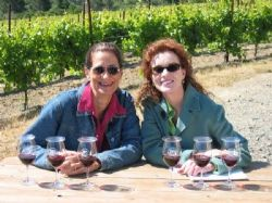 Interview with Karen MacNeil at the Meredith Estate vineyard in 2007
