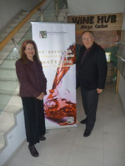 Merry and Ken attend the Wine Hub media trade launch in Shanghai, China