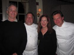 Peninsula Grill: Merry with Bill Murray and chefs Robert Carter and Tyler Florence, 2010 Charleston Food & Wine Festival