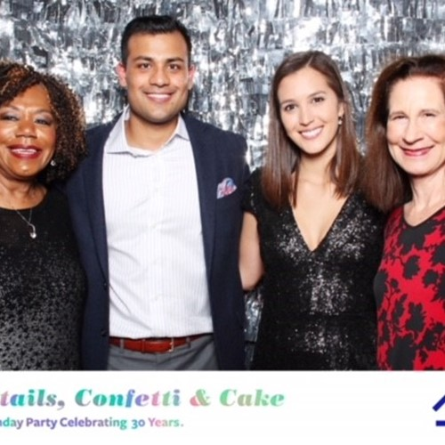 With Diane Douglas, Varun Marneni and Lauren Ortiz at Our House Auction Gala, Atlanta, February 2018