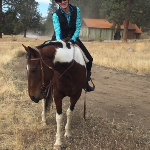 Trail ride, Resort at Paws Up, Greenough, MT, Oct. 2018