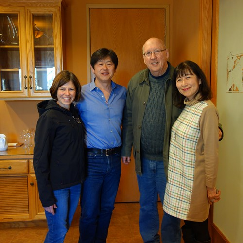 Winemaker Heidi and Ken with Tomo and Rie from our Japanese distributor, Jan. 2019