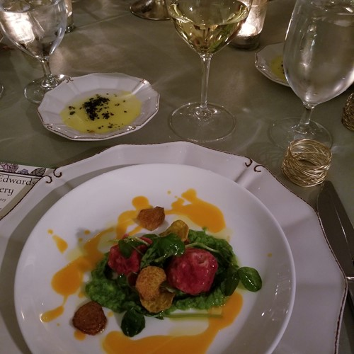 Winemaker dinner at Yeamans Hall Club, March 2019