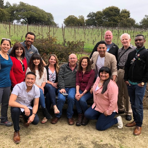 SF Symphony's Wattis Room staff visit to winery, 2019